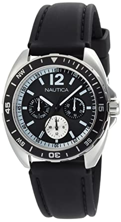 Nautica Mens N09910G Sport Ring Multifunction Black Box Set Watch