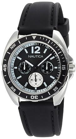Nautica Mens N09910G Sport Ring Multifunction Black Box Set Watch