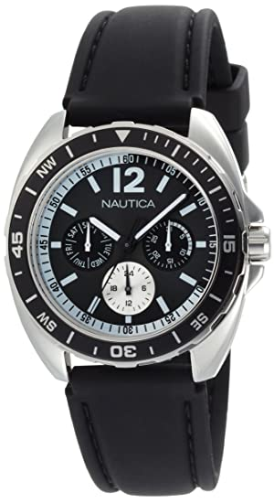 Amazon.com: Nautica Mens N09910G Sport Ring Multifunction Black Box Set Watch: Nautica: Watches
