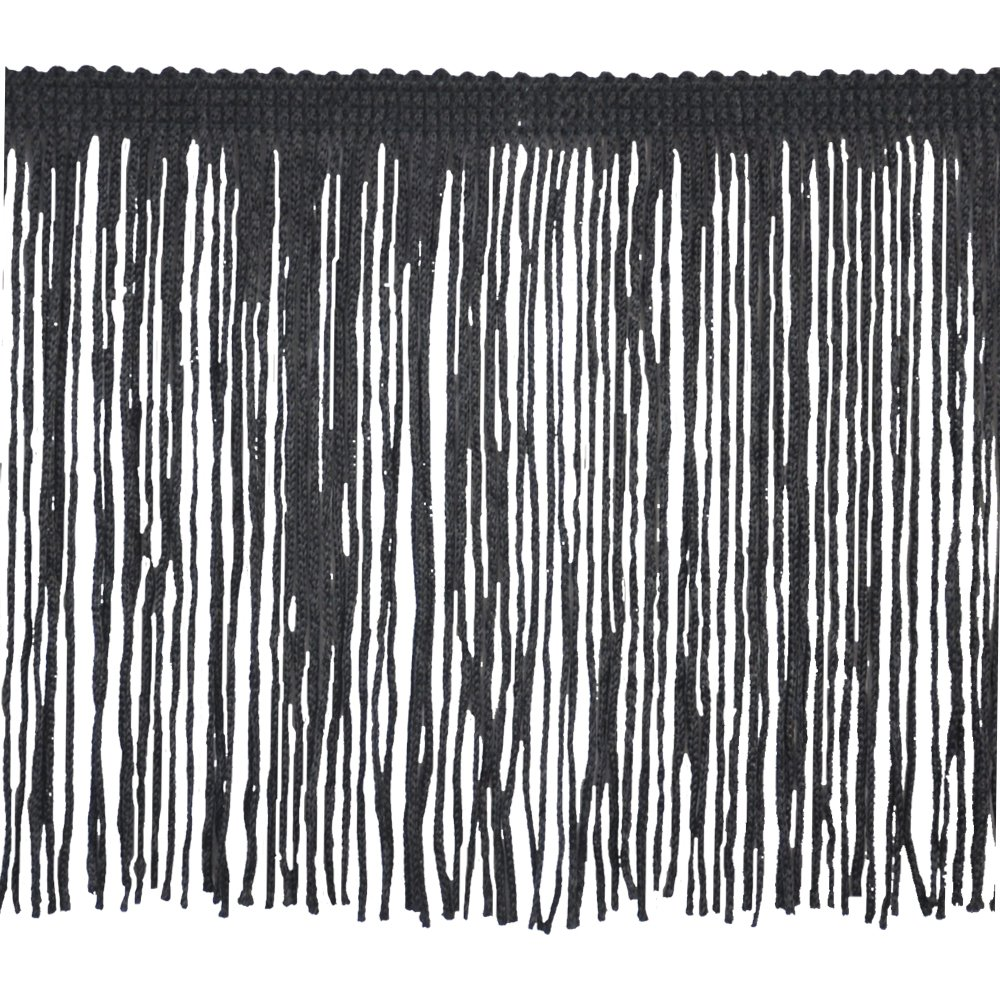 Brushed Fringe Women's Chainette Fringe P-7044 100-Percent Polyester 4-Inch Fringe Embellishment, 10-Yard, 02 Black Belagio Enterprises P-7044-02 Black