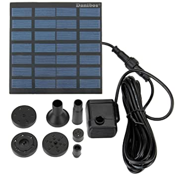 Solar Pump, Danibos Upgraded Solar Power Water Pump Panel Kit Submersible Water  Pump for Pool