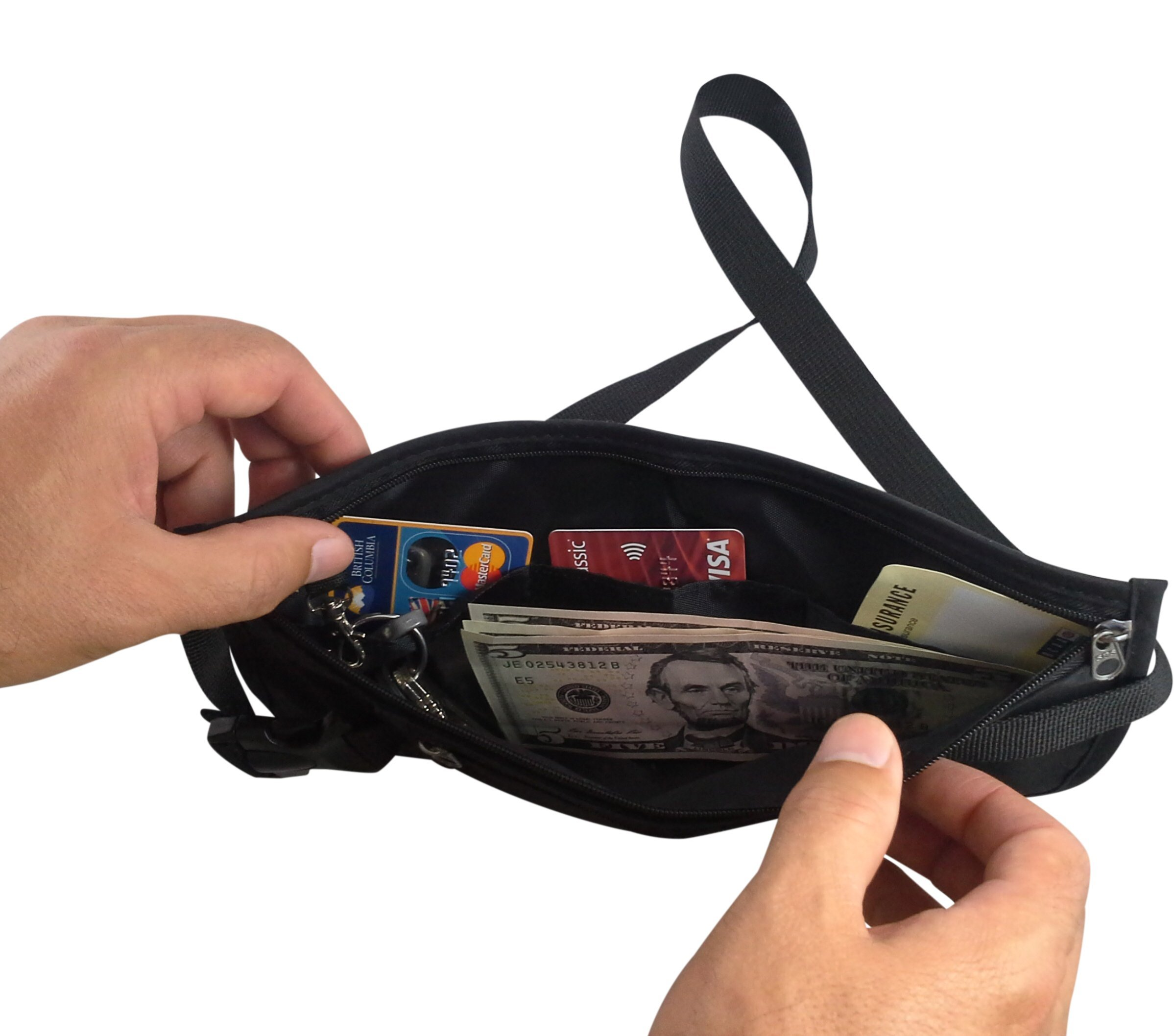 RFID Blocking Money Belt for Travel by MyTravelBFF, Keep Your Passport Hidden! by MyTravelBFF (Image #5)