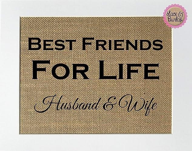 Amazon Com 8x10 Unframed Best Friends For Life Husband Wife