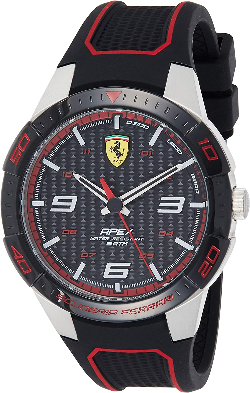 Ferrari Reloj Analógico para Hombre de Cuarzo con Correa en Caucho 830630