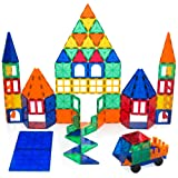 Playbees 100 Piece Magnetic Building Blocks, Vivid Color 3D Magnet Building Tile Set, Durable Building Toy for Educational and Creative Imagination Development, 100 pcs