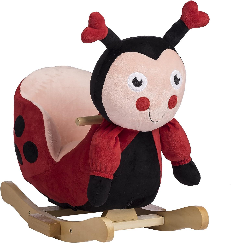 Rockin Rider Lala The Ladybug Baby Rocker Plush Ride-On, Red