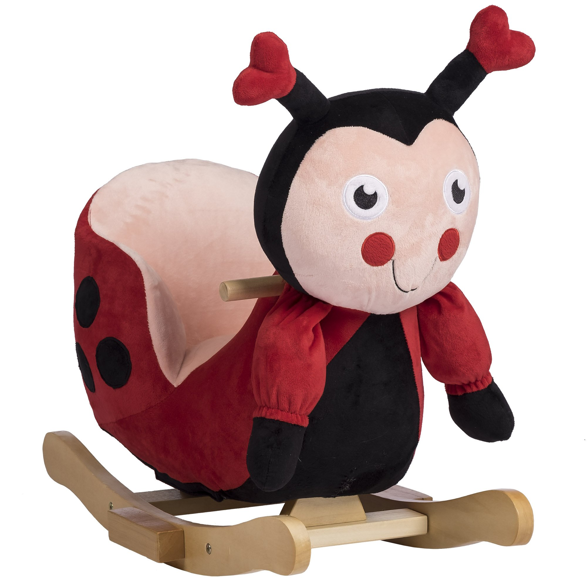 Rockin' Rider Lala The Ladybug Baby Rocker Plush Ride-On, Red by Rockin' Rider (Image #1)