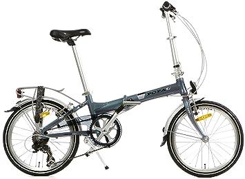 20 Pulgadas Bicicleta plegable 6 velocidades Popal Reload F207, gris