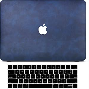 MacBook Pro 13 Inch Case 2020 2021 2019 to 2016 M1 A2338 A2251 A2289 A2159 A1989 A1708 A1706, Leather MacBook Pro Case Laptop Hard Shell & 3 Keyboard Cover Compatible for Apple MacBook Pro Touch Bar