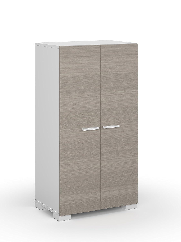 habitdesign bo mueble armario zapatero color blanco y fresno medidas xx cm