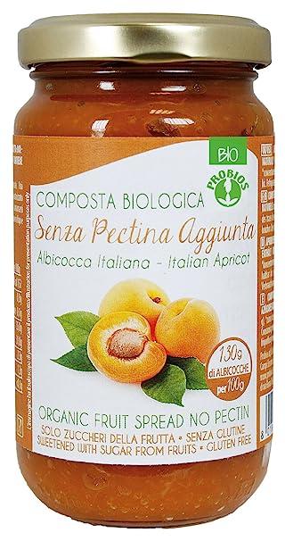 Probios Compota de Albaricoque, con Azúcar de La Fruta - Paquete de 6 x 220