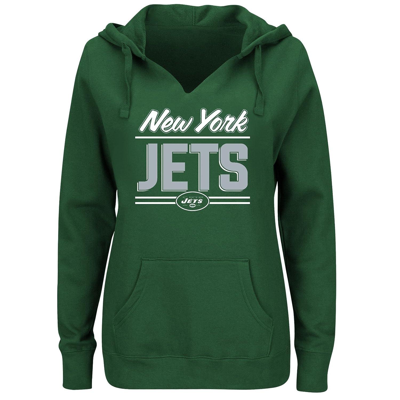 NFL womens Jets Fleece Pull Over Notch Hood