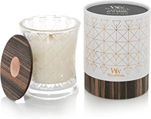 WoodWick Aura Black Oud Scented Wood Wick 9.7 oz. Glass Jar Candle