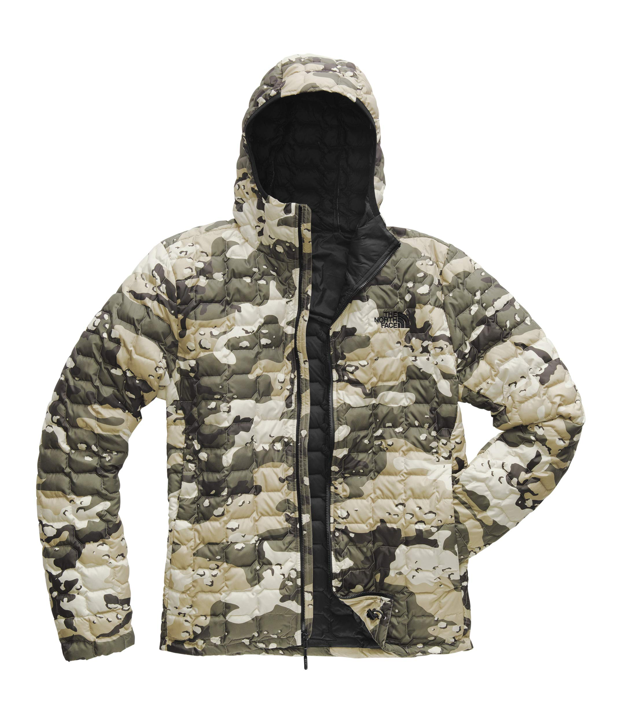 The North Face Men's Thermoball Hoodie Peyote Beige Woodchip Camo Print Small