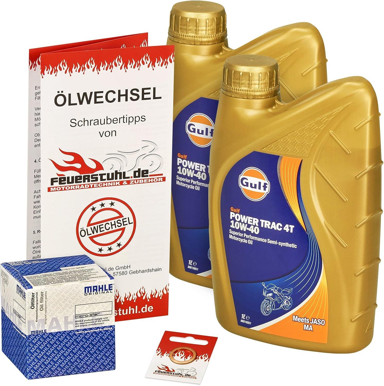 Gulf 10w 40 Öl Mahle Ölfilter Für Honda Nx 650 Dominator 88 00 Rd02 Rd08 Ölwechselset Inkl Motoröl Filter Dichtring Auto