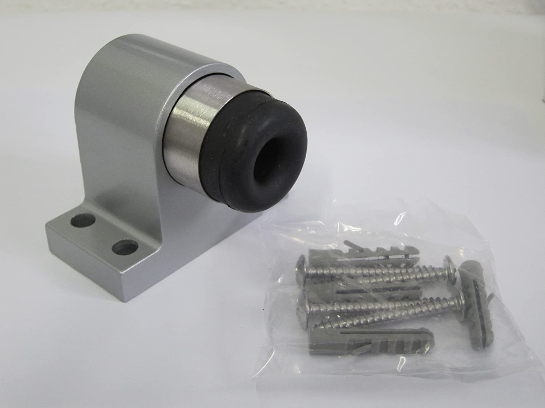 Türstopper 83029 Grau Massiver Alu Guss Bodenmontage Türpuffer TS-83029 ohne Fst