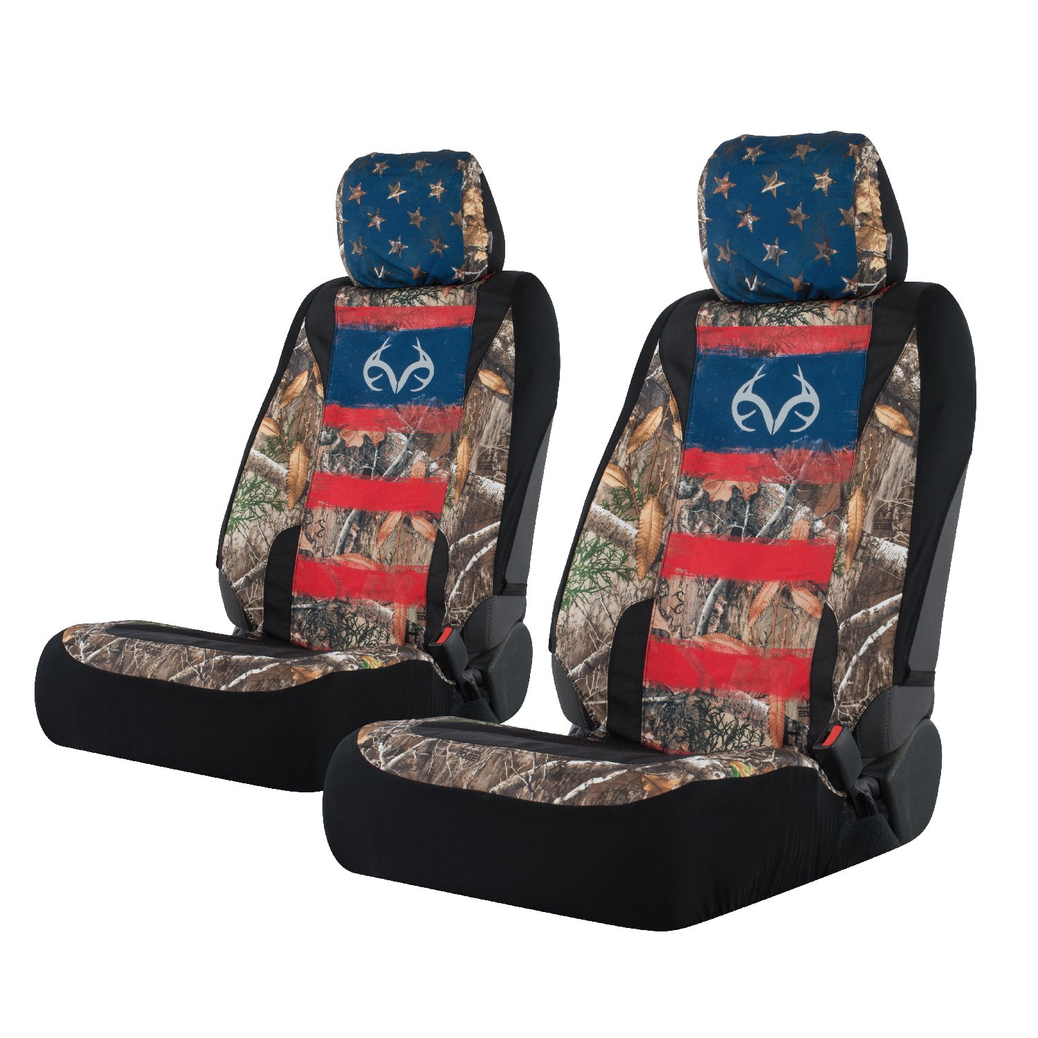Realtree Camo Low Back Seat Covers | Edge/Americana | 2 Pack by Realtree