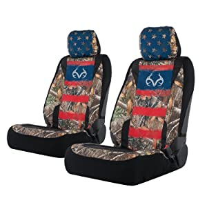 Realtree Low Back Camo Seat Covers for Car and Truck, Fits Most Bucket Seats