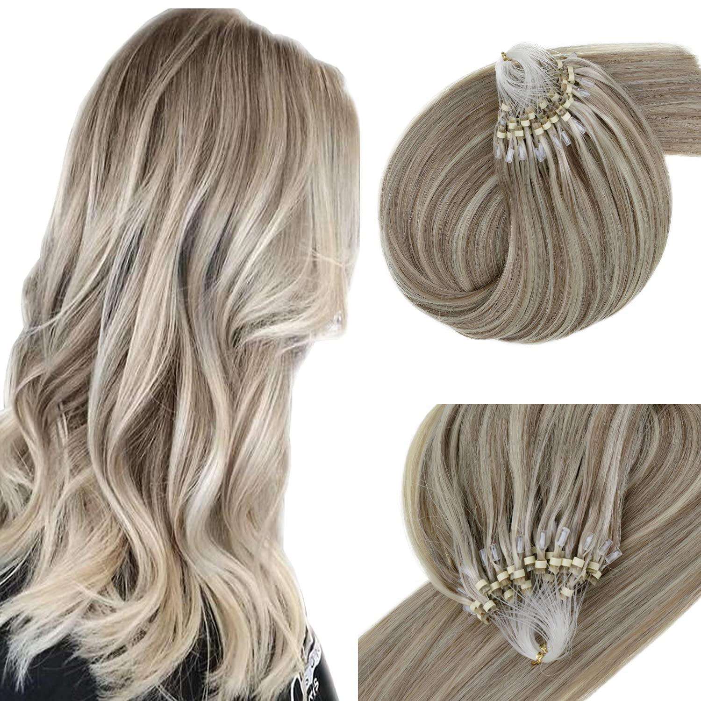 List price Memphis Mall Vivien Real Human Hair Micro Loop 12 Light Inch Brown Extensions