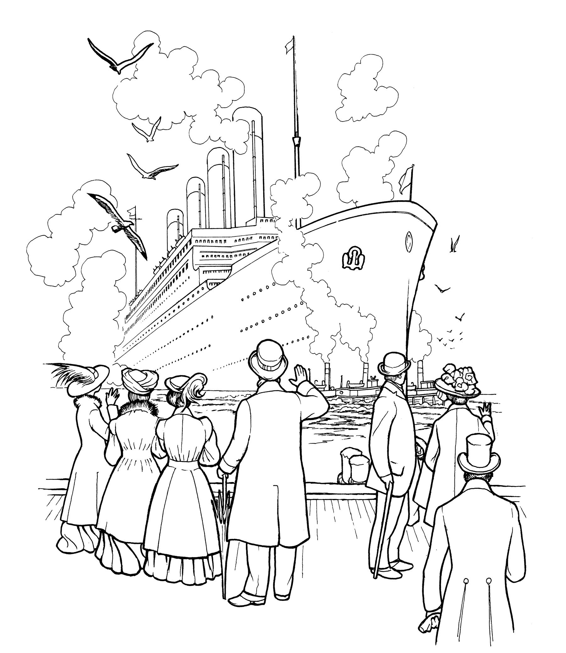 The Titanic Coloring Book Dover History Coloring Book Peter F ...