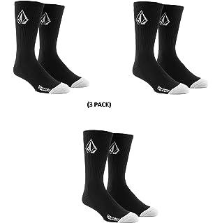 Volcom No Show 3 Pack Socks - Black