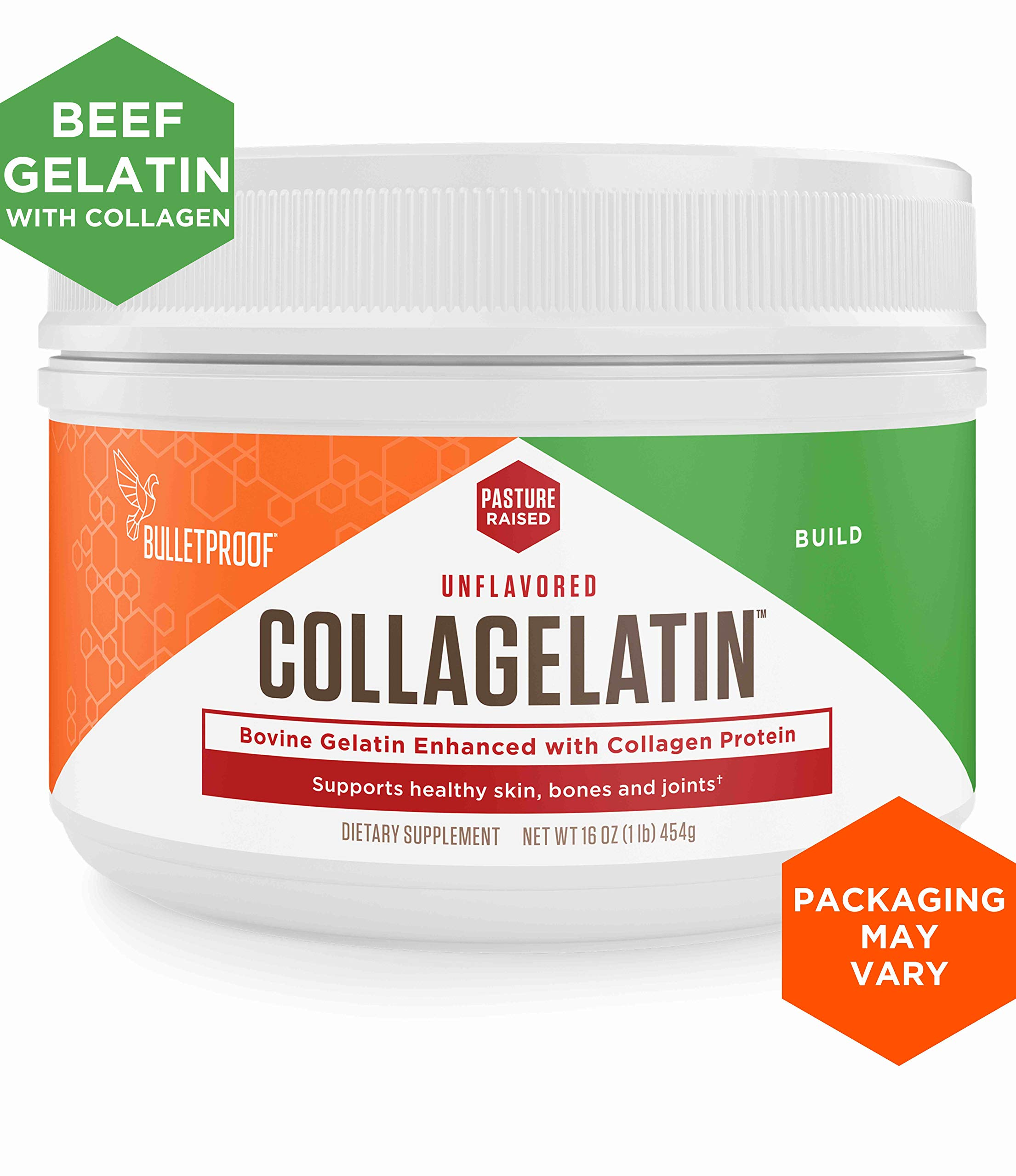 Bulletproof CollaGelatin, Gelatin Enhanced with Collagen Protein, Perfect for The Keto and Paleo Diet Recipes (16 Ounces) by Bulletproof