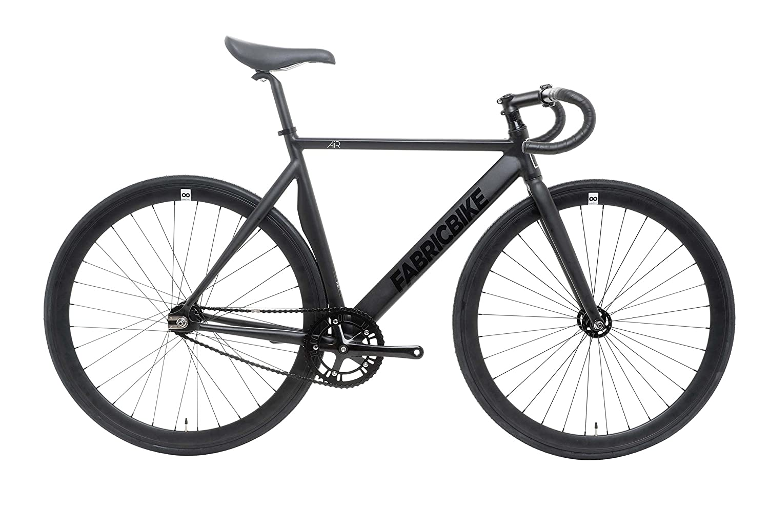 FabricBike Air- Bicicleta Fixie, piñon Fijo, Fixed Gear, Single Speed Urban Bike (Air Matte Black, L-55): Amazon.es: Deportes y aire libre