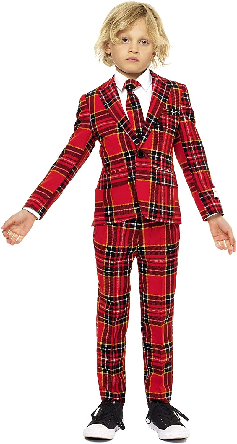 Victorian Kids Costumes & Shoes- Girls, Boys, Baby, Toddler Opposuits Christmas Suits for Boys in Different Prints – Ugly Xmas Sweater Costumes Include Jacket Pants & Tie $79.99 AT vintagedancer.com