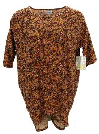 41e7bb75a5b Lularoe Irma (2XS) (Flowers on Brown) at Amazon Women's Clothing store: