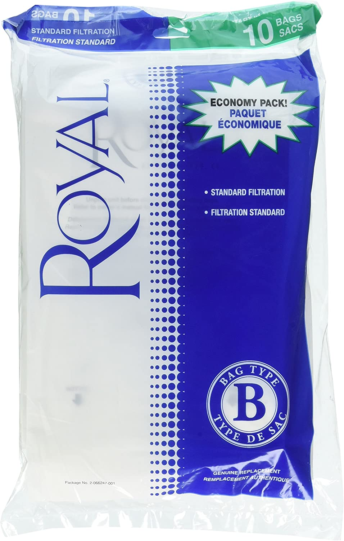 Royal Dirt Devil 2066247001 Paper Bag, Royal Type B Upright Top Fill 10 Pk