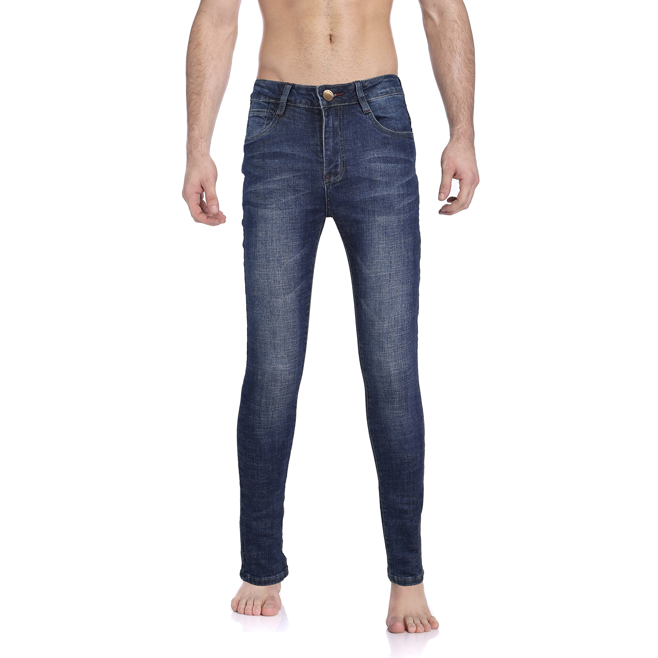 Tusalmo Jeans for Young Men (32W, Blue-6687#)