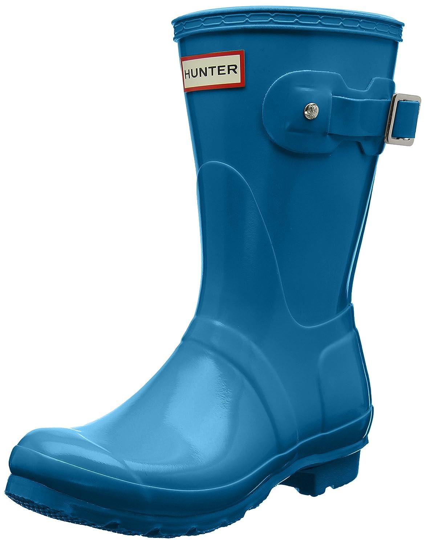 Hunter Women's Original Short Gloss Rain Boots B01N4KHDME 11 B(M) US|Ocean Blue