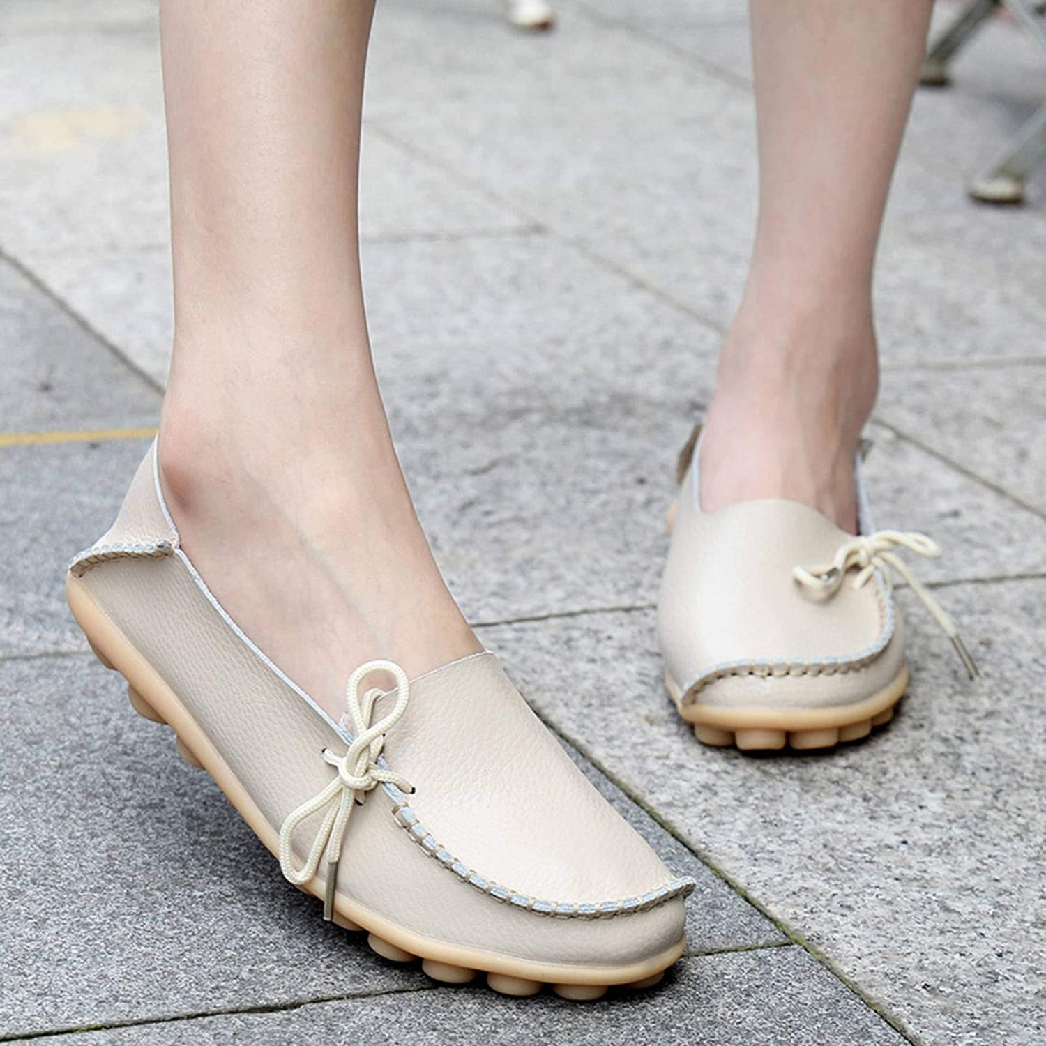 Dear Time Women Slip On Loafers Casual Walking Flats Natural Breathable Flats Shoes