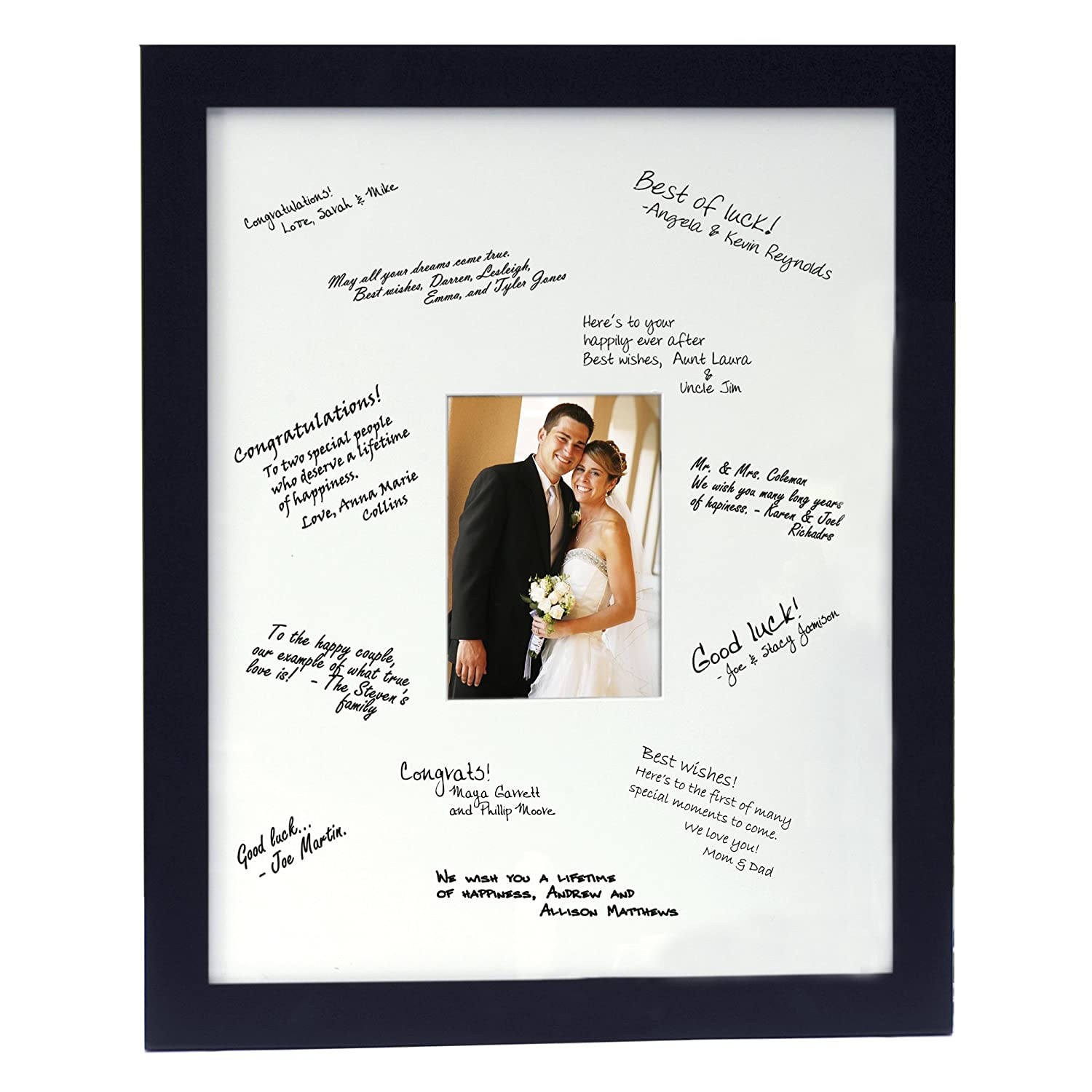 Amazon personalized guest book frame black18 by 22 amazon personalized guest book frame black18 by 22 guest book photo frames jeuxipadfo Images