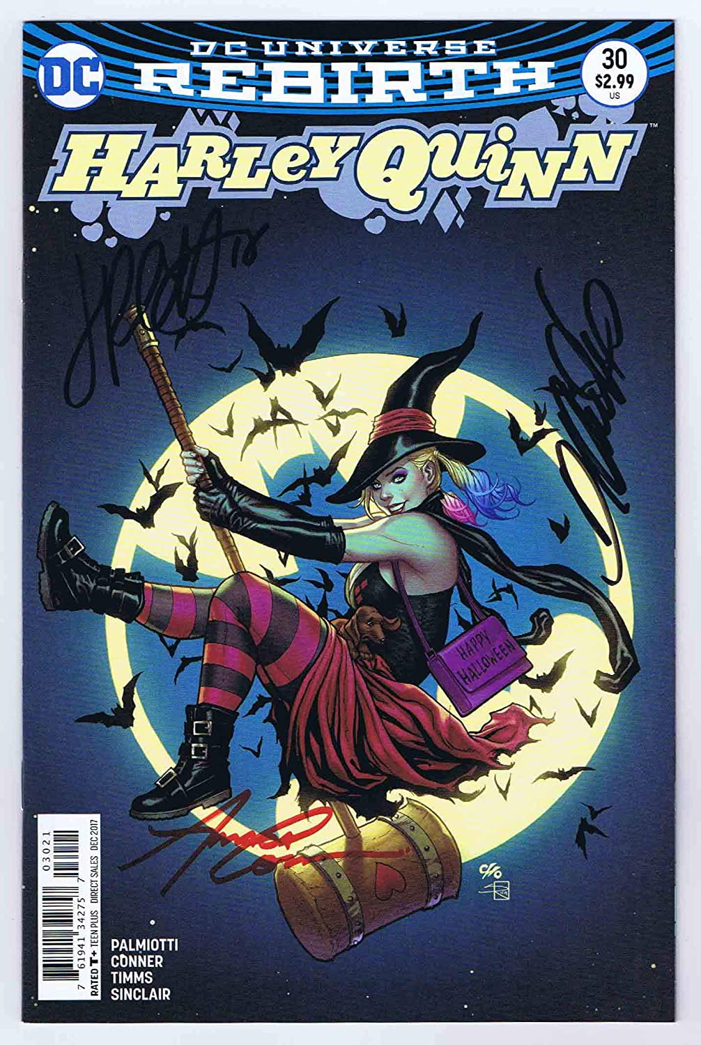 Harley Quinn #30 Variant NM Signed w/COA Conner/Palmiotti/Cho 2017 DC Comics