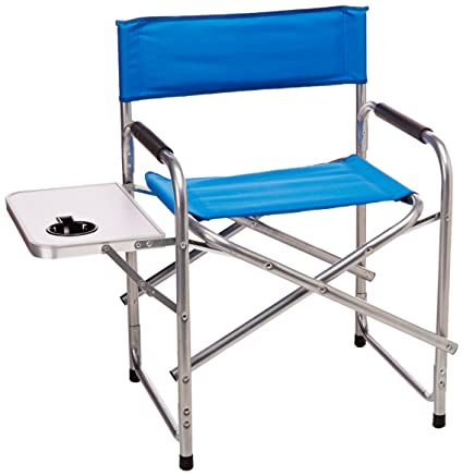Amazon Com Texsport Steel Directors Chair With Side Table And