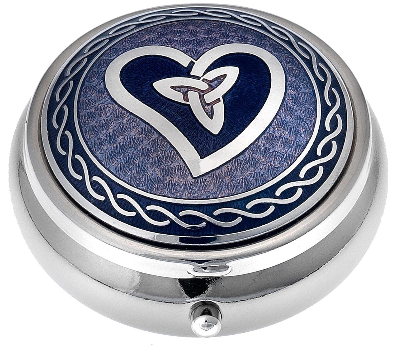 Red Porta pillole in Celtic Trinity Heart Design