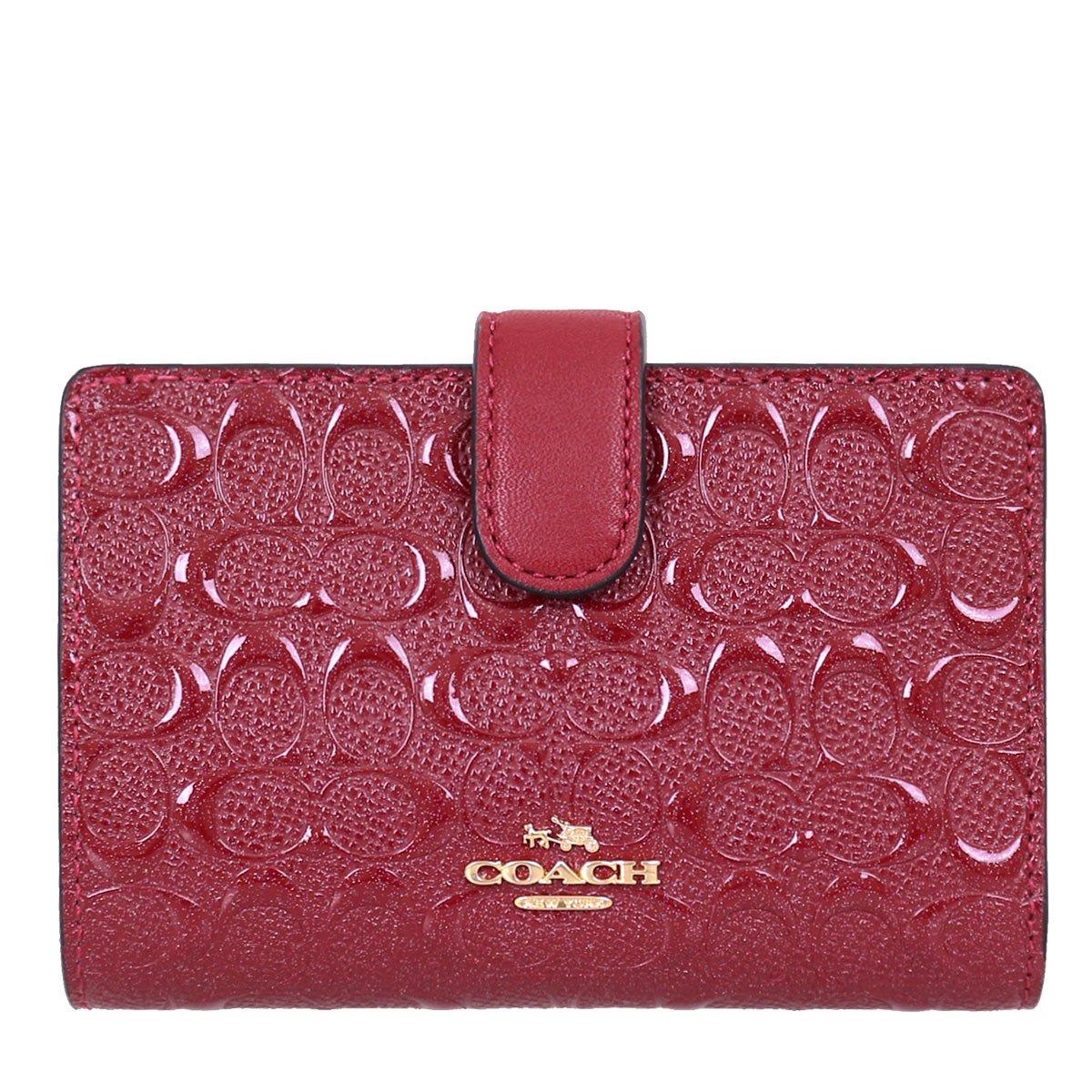 [コーチ] COACH 財布 (二つ折り財布) F25937 パテント レザー 二つ折り財布 レディース [アウトレット品] [並行輸入品] B07B1X6L7D ダークレッド ダークレッド