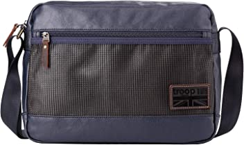 Troop London Coated Canvas Leather Messenger Bag  013d823e2ba98