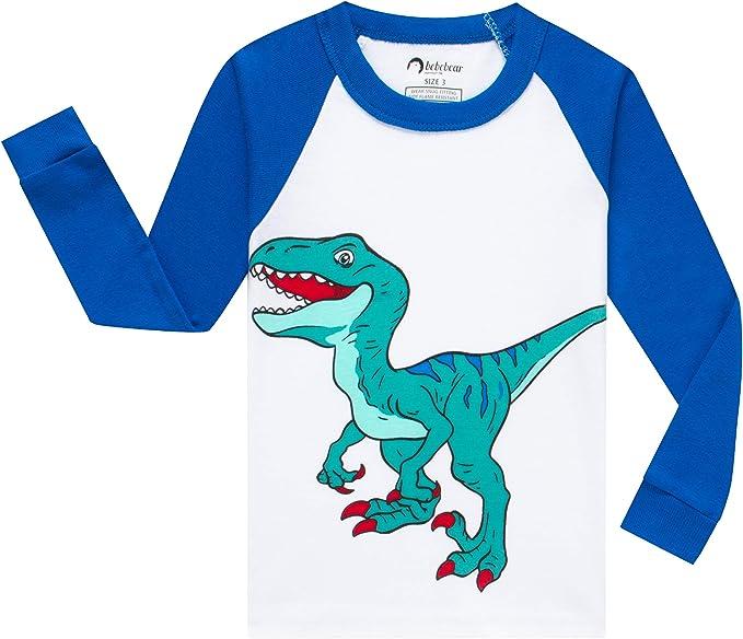 Little Boys Girls Christmas Pajamas Dinosaurs Cars Trees Pjs Kids Gift Set