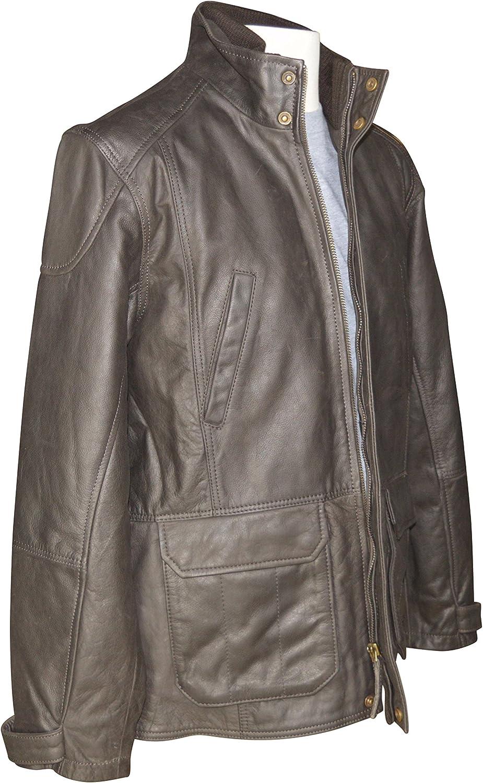 Austin Reed Brown Luxury Leather Jacket Large Amazon Co Uk Clothing