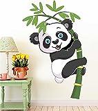 Paper Plane Design Rectangular 'Baby Panda Removable Decor Mural Kids' Wall Stickers (Paper, 61 cm X 0.2 cm X 91 cm)