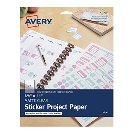 amazon com avery sticker project paper repositionable adhesive