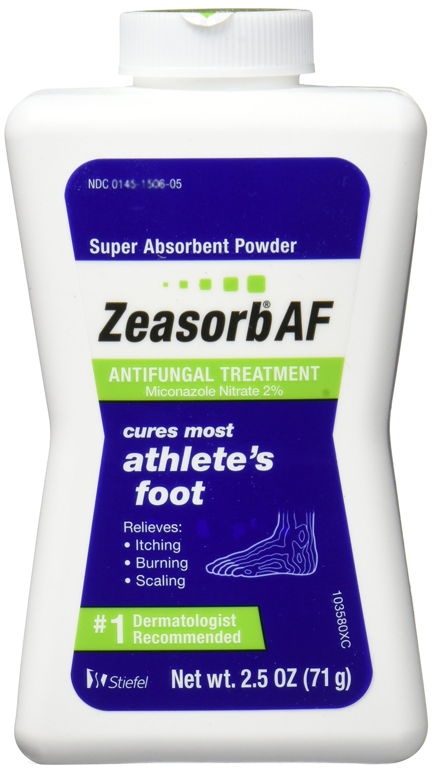Zeasorb Antifungal Powder Treatment For Athletes Foot - 2.5 Oz (3 Pack)