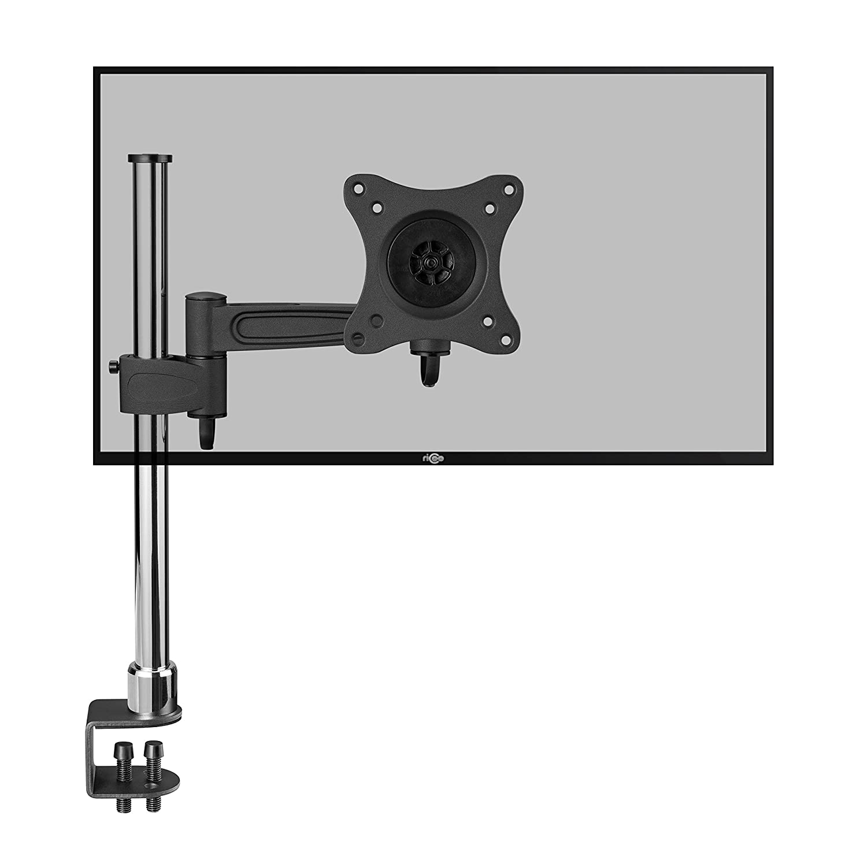 RICOO Supporto per Monitor da Tavolo TS2211 Staffa per televisore piatto inclinabile girevole Smart 4K Curvo 3D QLED OLED LED LCD televisori mobile braccio television VESA 75x75 100x100 universale