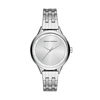 e74766cf710a Armani Exchange Damen Analog Quarz Uhr mit Edelstahl Armband AX5600 ...