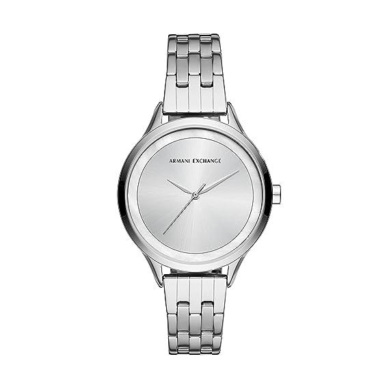 Armani Exchange Reloj Analogico para Mujer de Cuarzo con Correa en Acero Inoxidable AX5600: Amazon.es: Relojes