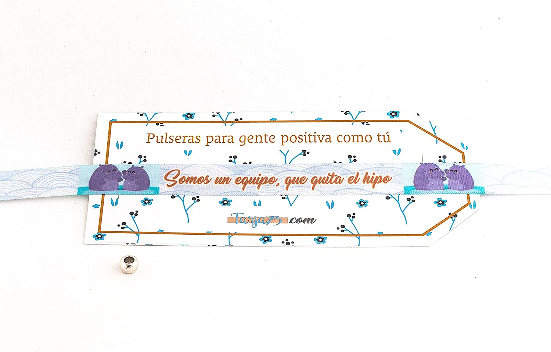 Pulseras de tela con frases molonas: EQUIPO QUITA EL HIPO | Regalo original