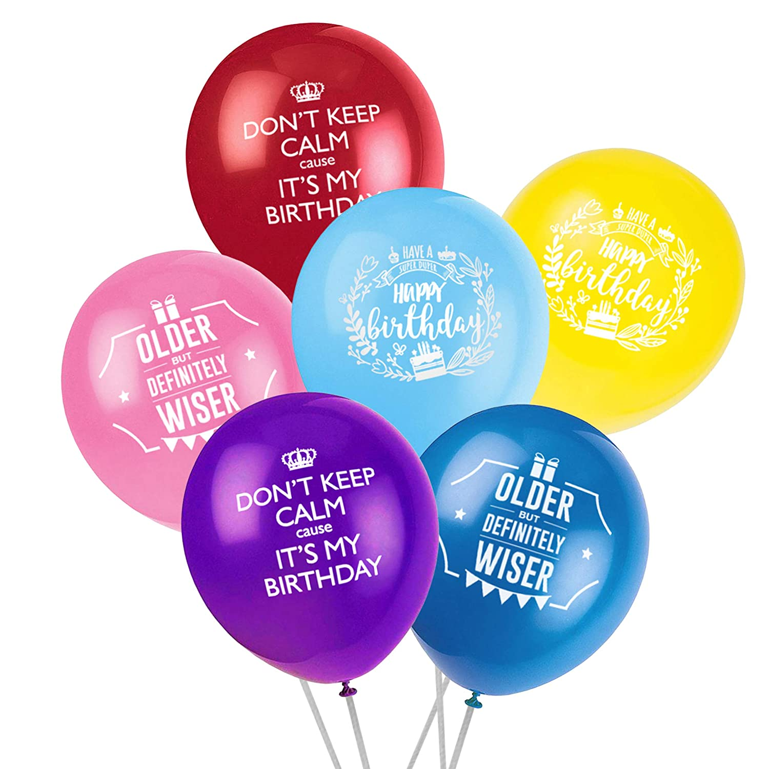 Amazon ON Sales Happy Birthday Party Balloon 60pcs 12 Inches Thick And High Quality