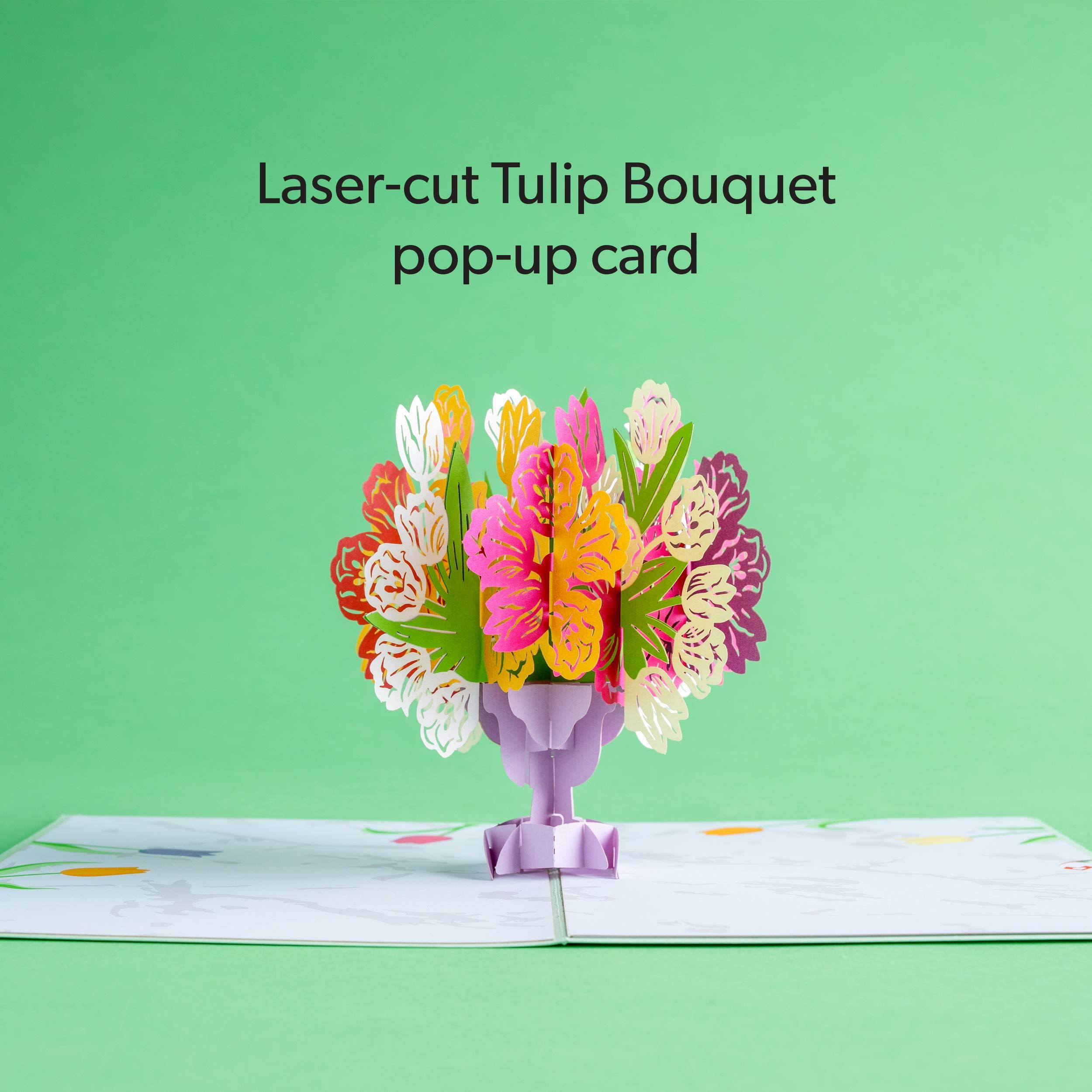 Lovepop Tulip Bouquet Pop Up Greeting Card, Flower Pop Up Card, Lovepop Card, Anniversary Card, Spring Card, Summer Card, Card for Mom by Lovepop (Image #4)